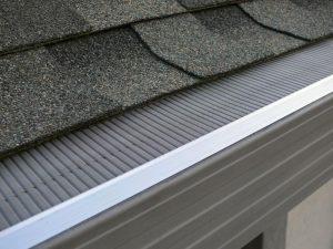rain gutter guard install