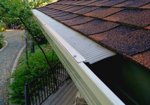 leaf blaster gutter guard installation
