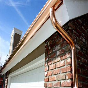 copper gutter install