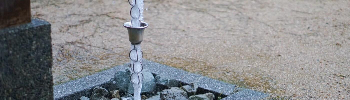 Rain Chain Installed